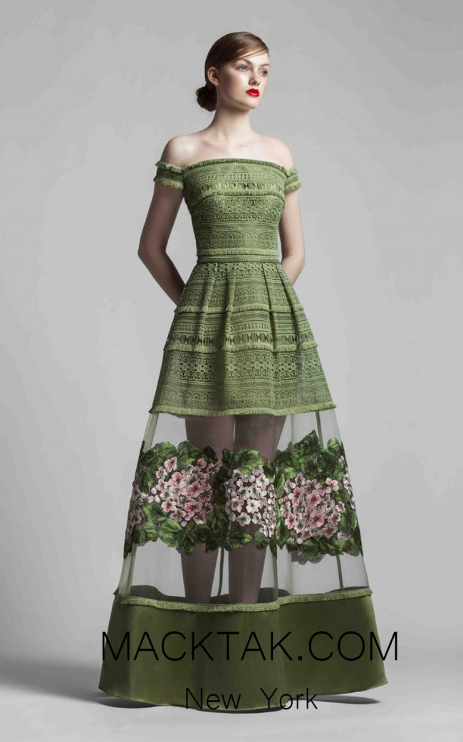 Beside Couture 1365 Green Front Dress