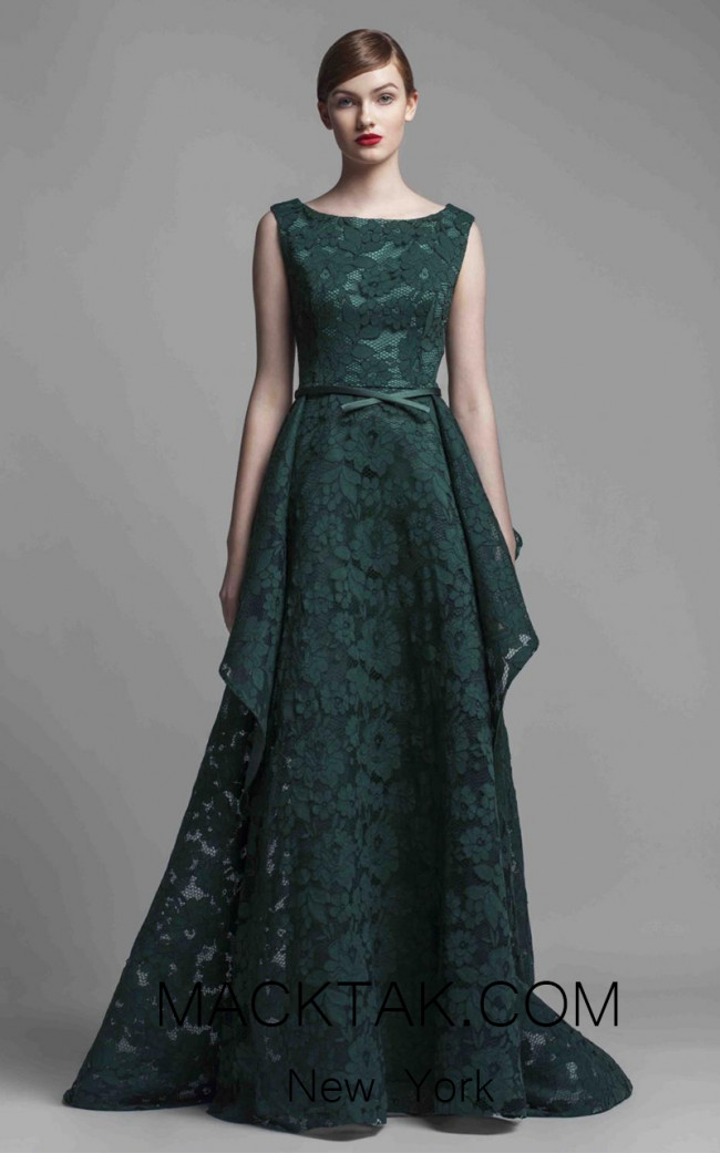 Beside Couture 1367 Green Front Dress