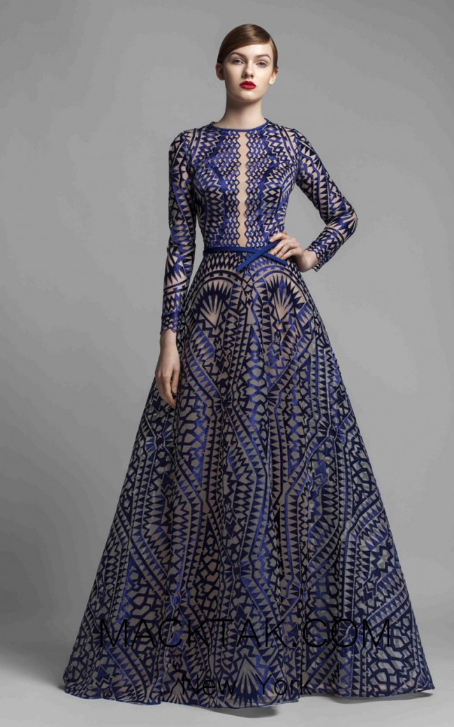 Beside Couture 1377 Blue Front Dress