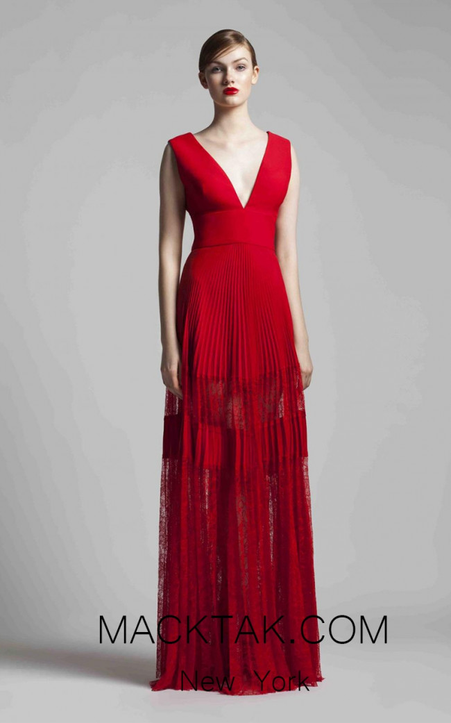 Beside Couture 1397 Red Front Dress