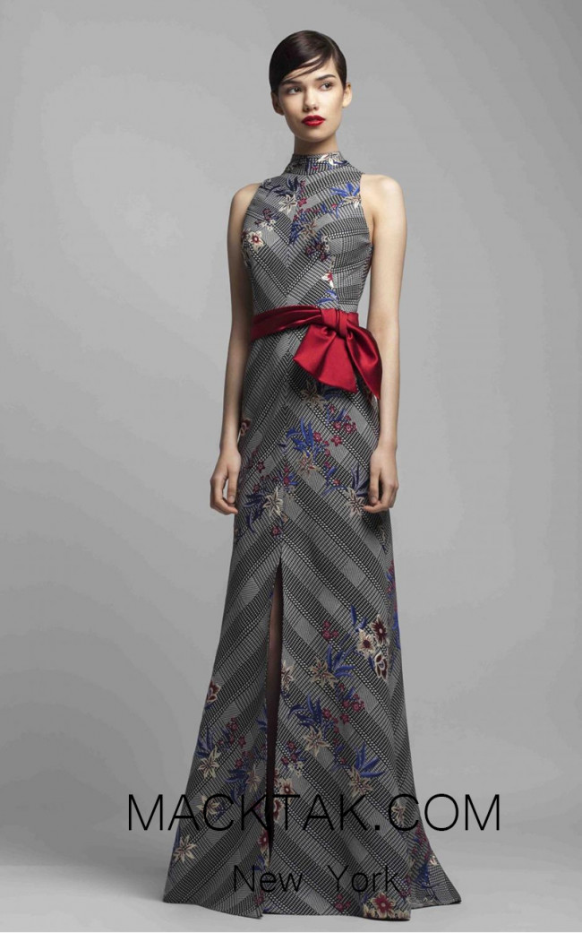 Beside Couture 1398 Black Red Front Dress