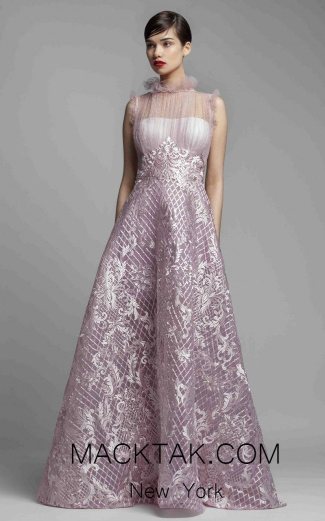 Beside Couture 1403 Pink Front Dress
