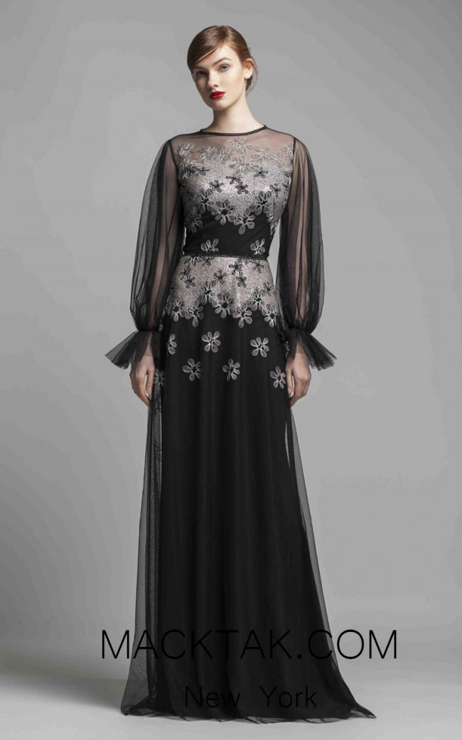 Beside Couture 1411 Black Silver Front Dress