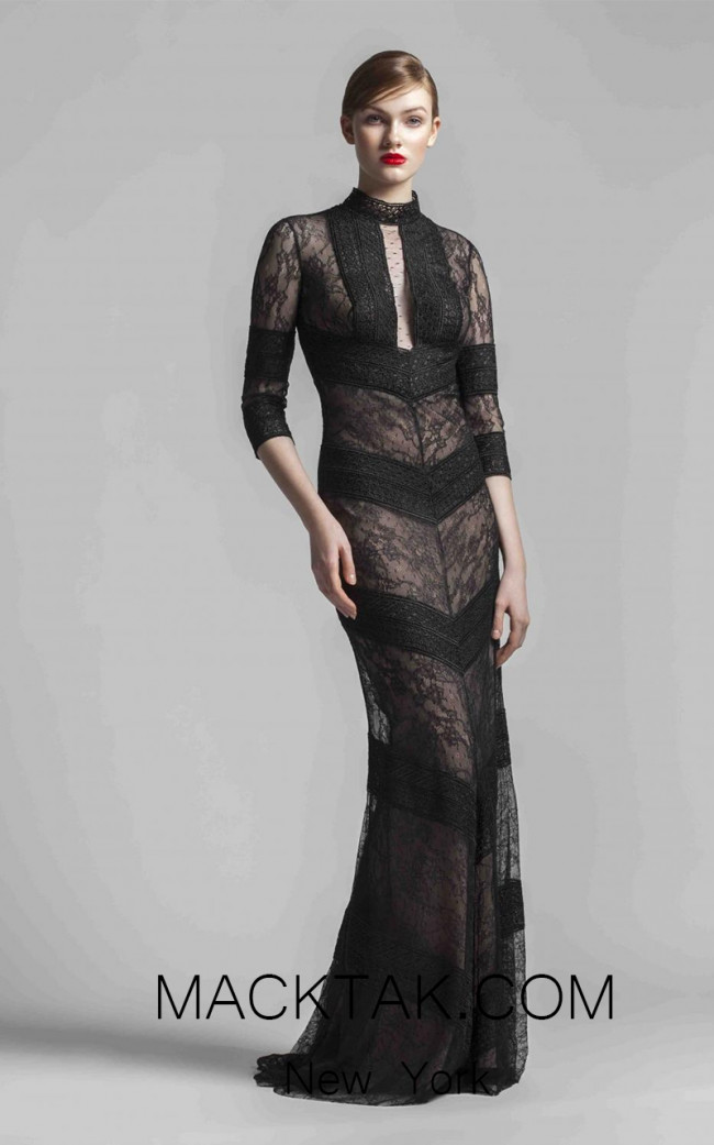Beside Couture 1416 Black Front Dress