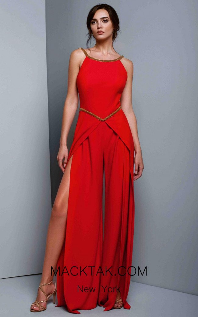 Beside Couture 1322 Red Front Dress