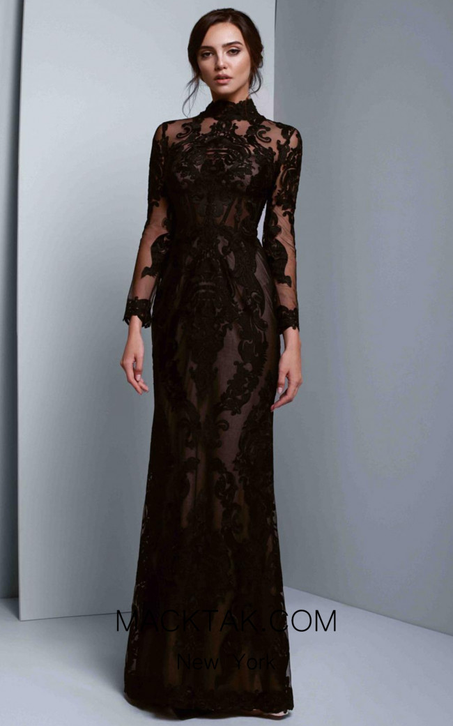 Beside Couture 1333 Black Front Dress