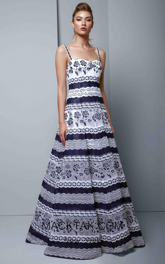 Beside Couture 1344 Navy Front Dress