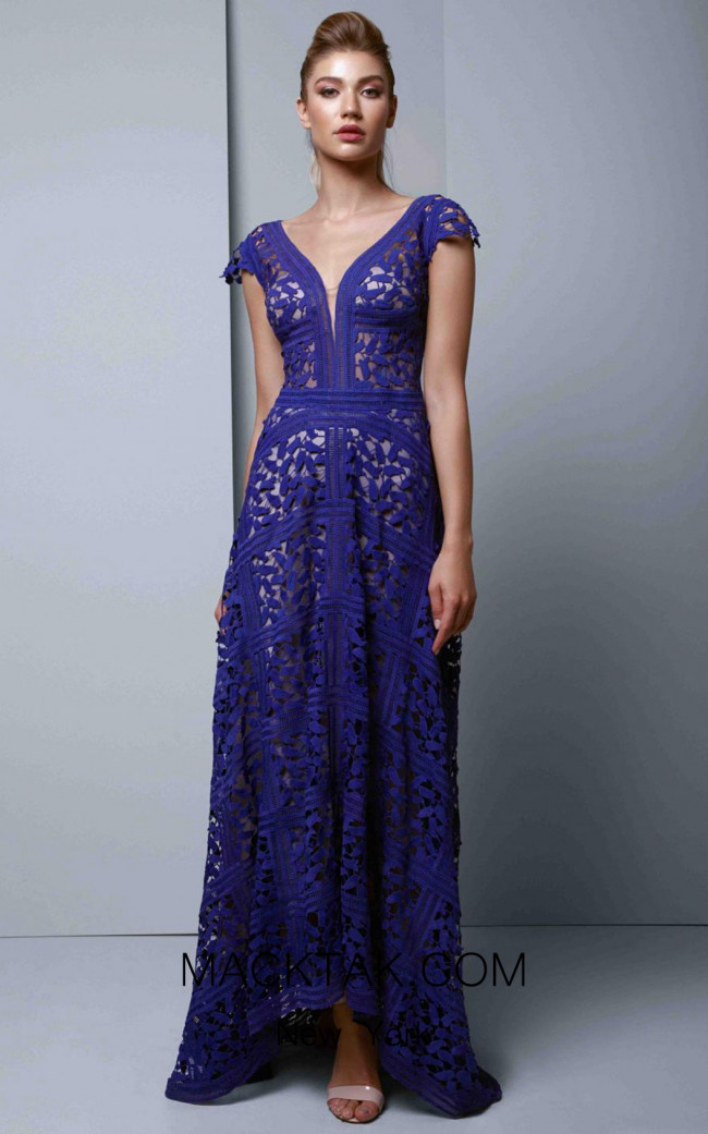 Beside Couture 1346 Indigo Front Dress