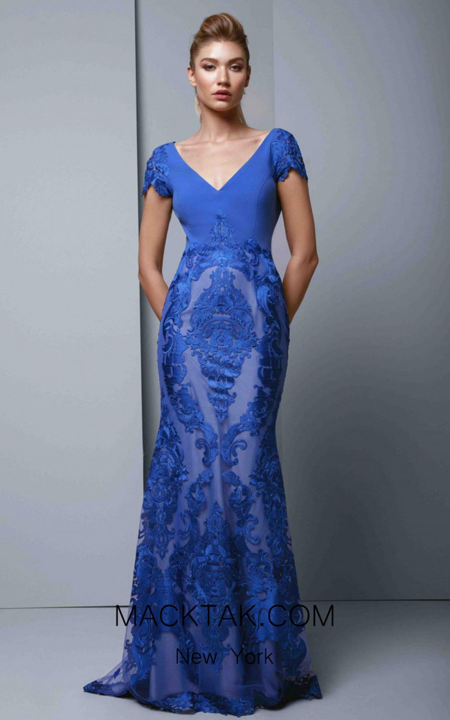 Beside Couture 1347 Royal Blue Front Dress