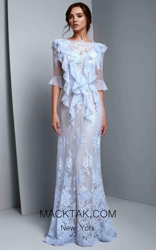 Beside Couture 1349 Blue Front Dress
