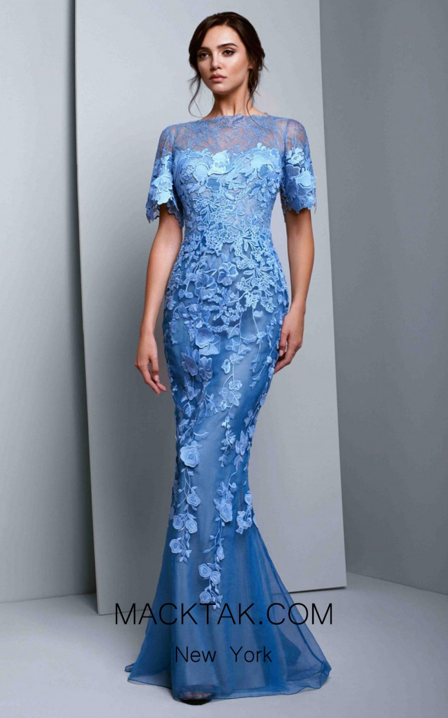 Beside Couture 1350 Blue Front Dress