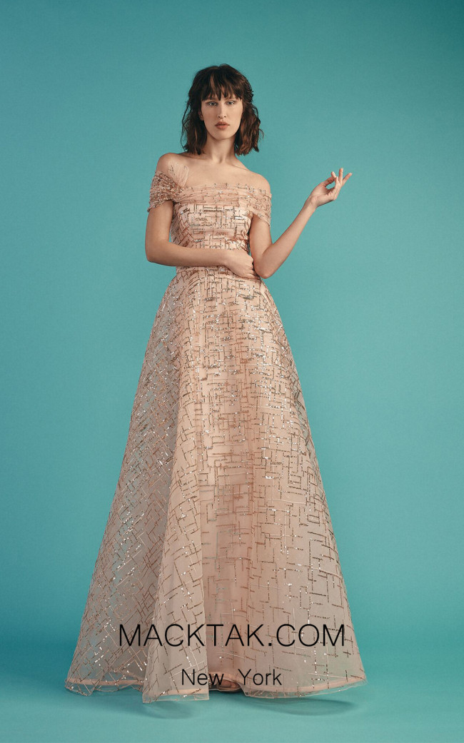 Beside Couture by Gemy Maalouf BC1482 Blush Front Evening Dress