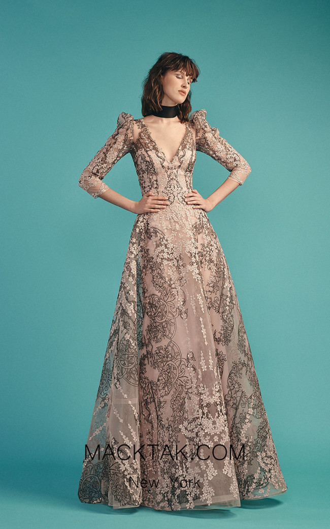 Beside Couture by Gemy Maalouf BC1484 Pink Front Evening Dress