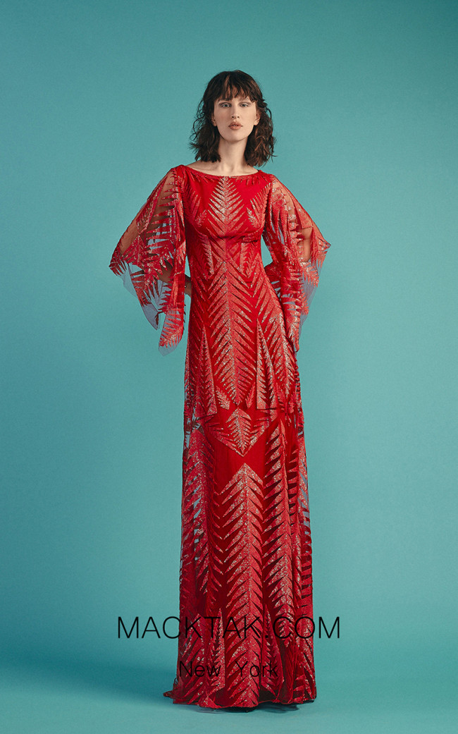 Beside Couture by Gemy Maalouf BC1505 Red Front Dress