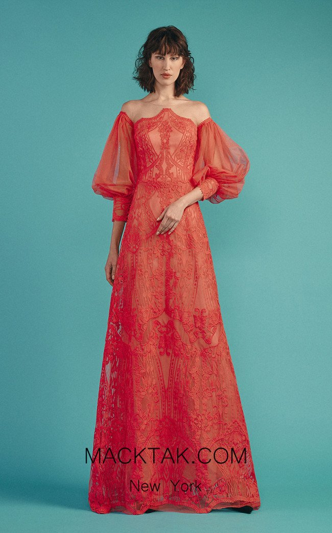 Beside Couture by Gemy Maalouf BC1506 Watermelon Front Dress