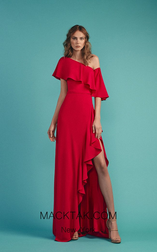 Beside Couture by Gemy Maalouf BC1507 Fuchsia Front Dress