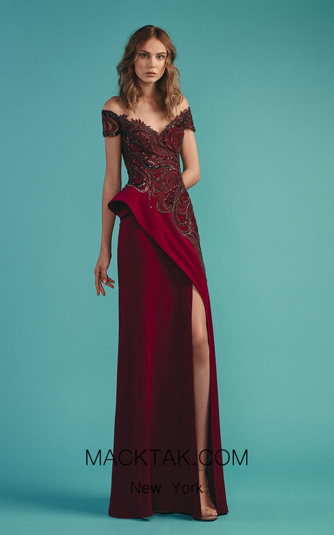 Beside Couture by Gemy Maalouf BC1516 Purple Front Dress