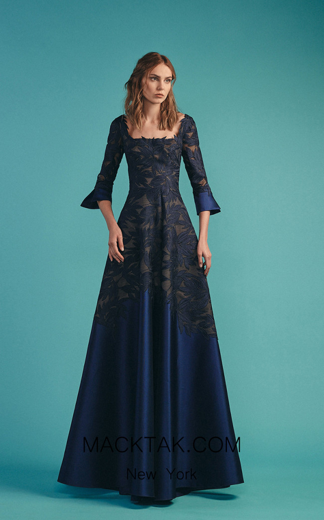 Beside Couture by Gemy Maalouf BC1529 Navy Front Dress