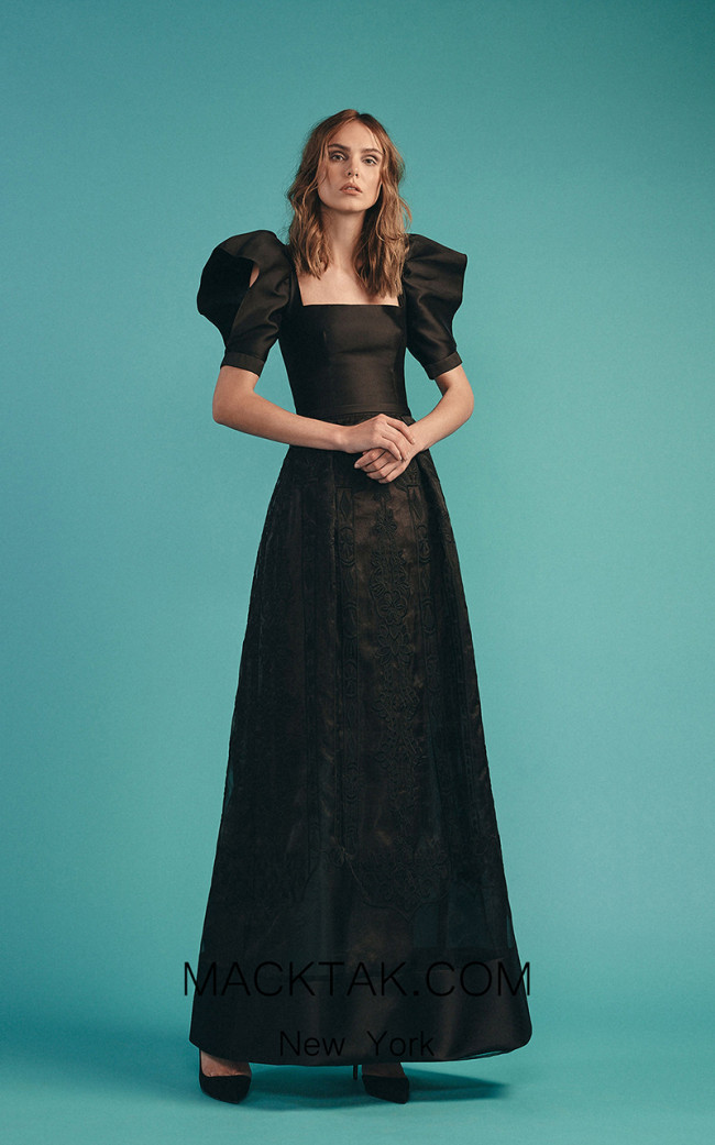 Beside Couture by Gemy Maalouf BC1530 Black Front Dress