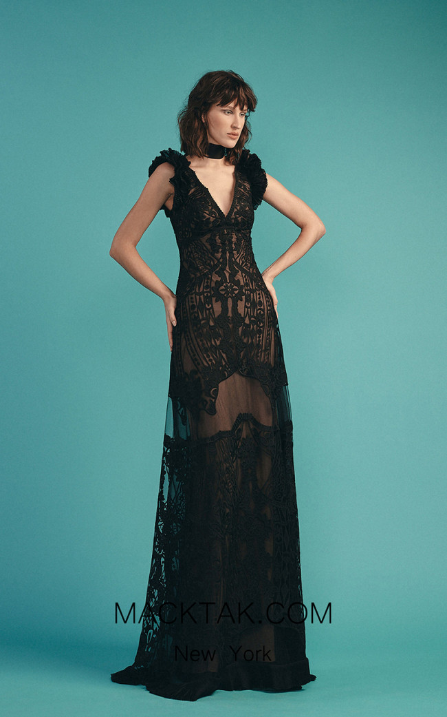 Beside Couture by Gemy Maalouf BC1531 Black Front Dress