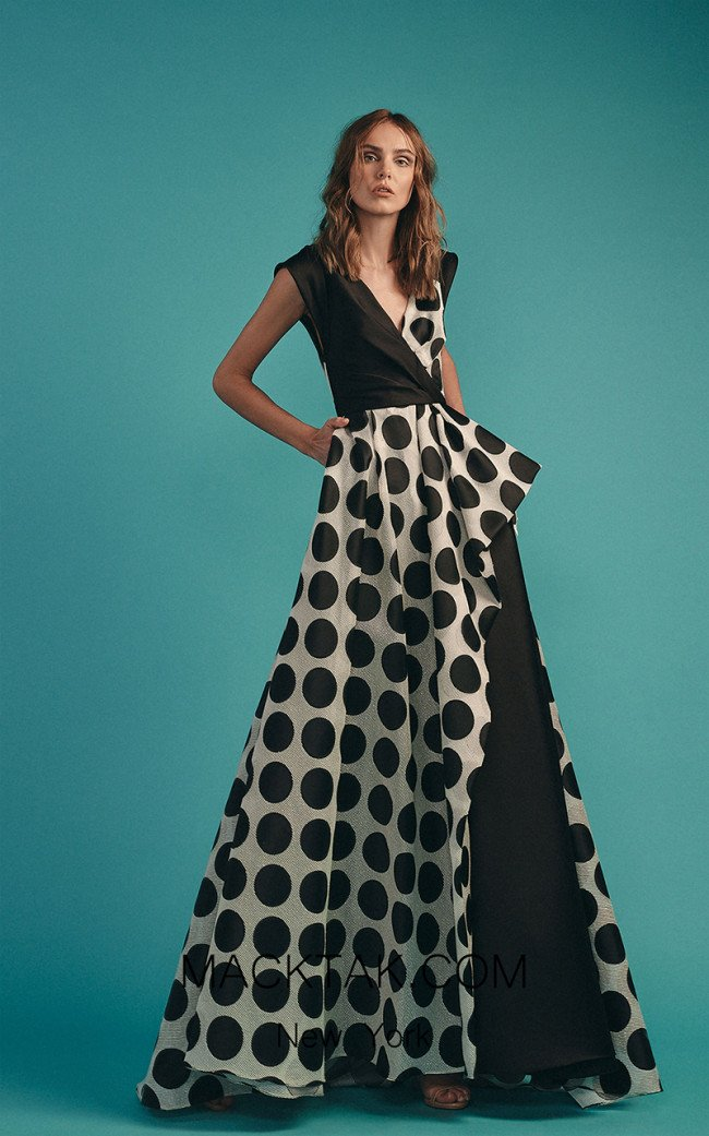 Beside Couture by Gemy Maalouf BC1535 Black Front Dress