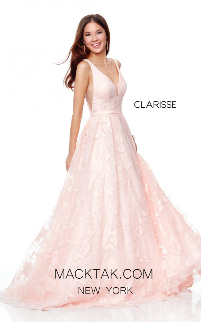 Clarisse 3876 Blush Pink Front Prom Dress