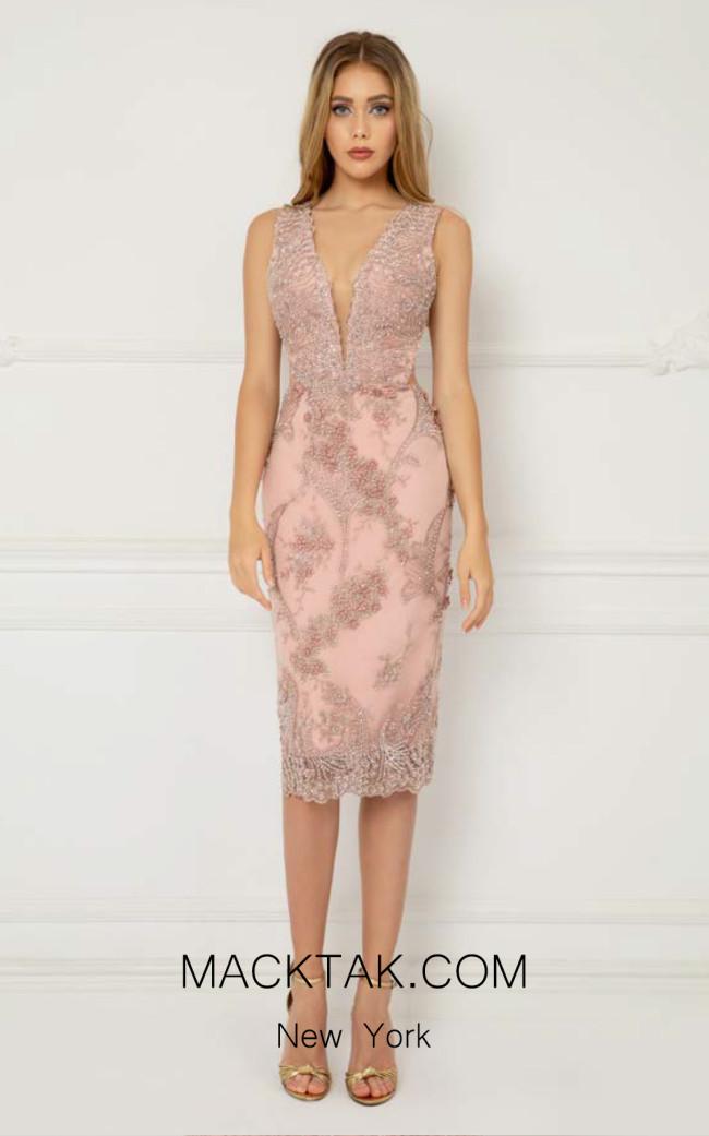 Cristallini SKA1003 Light Pink Front Dress
