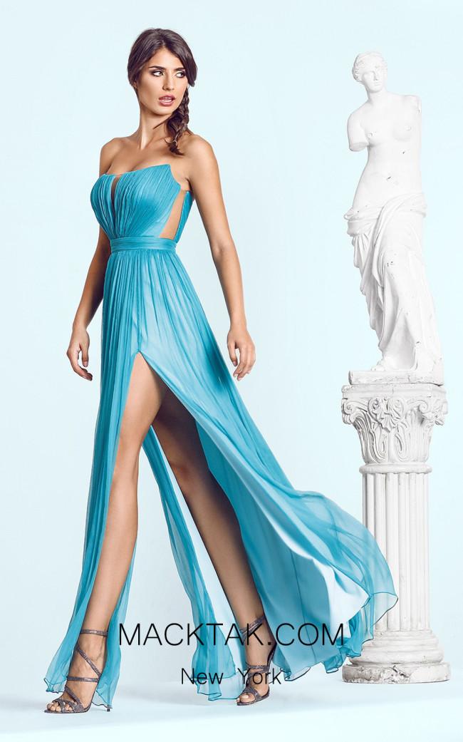 Cristallini SKA443 Royal Blue Front Dress