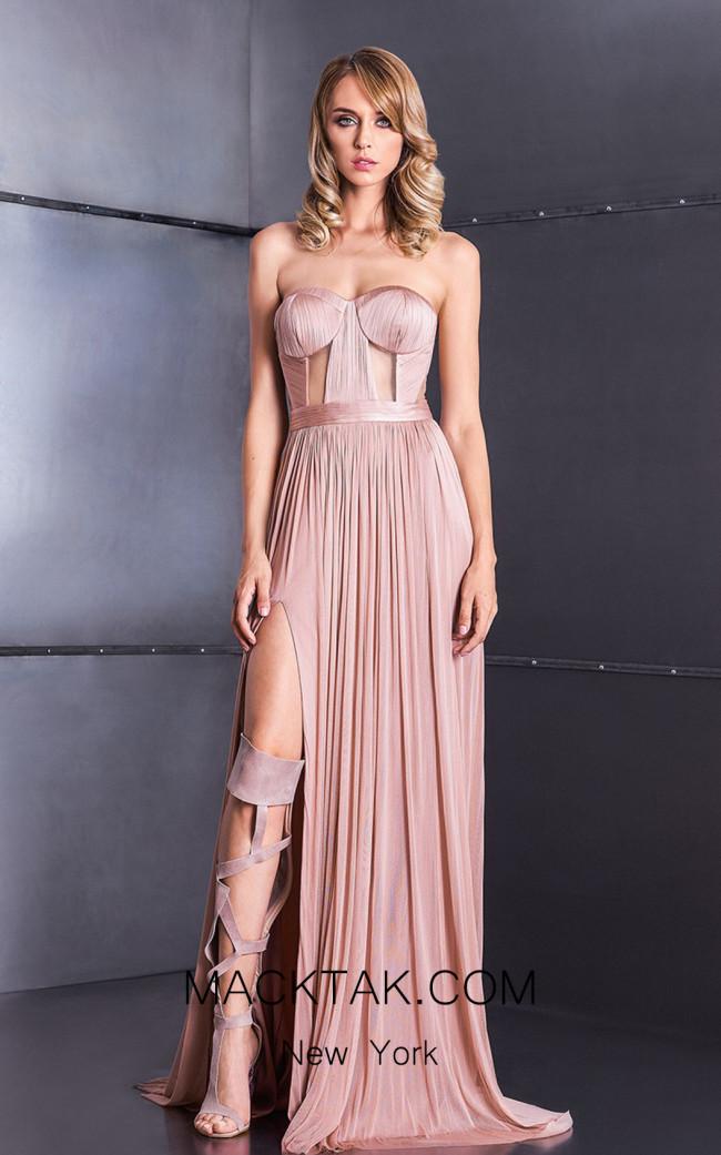 Cristallini SKA592 Light Pink Front Dress