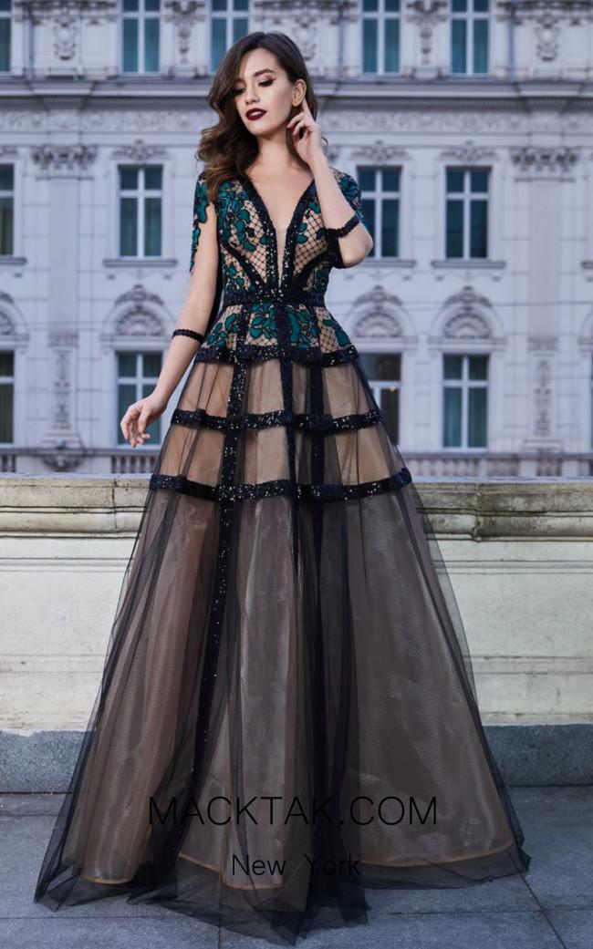 Cristallini SKA930 Front Evening Dress