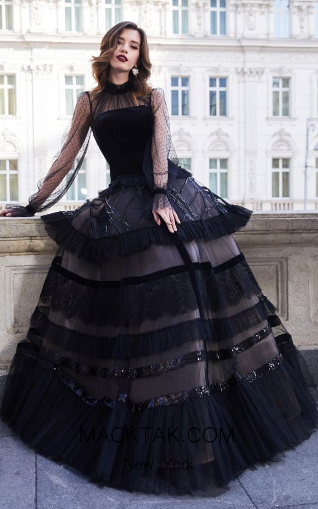 Cristallini SKA938 Front Evening Dress