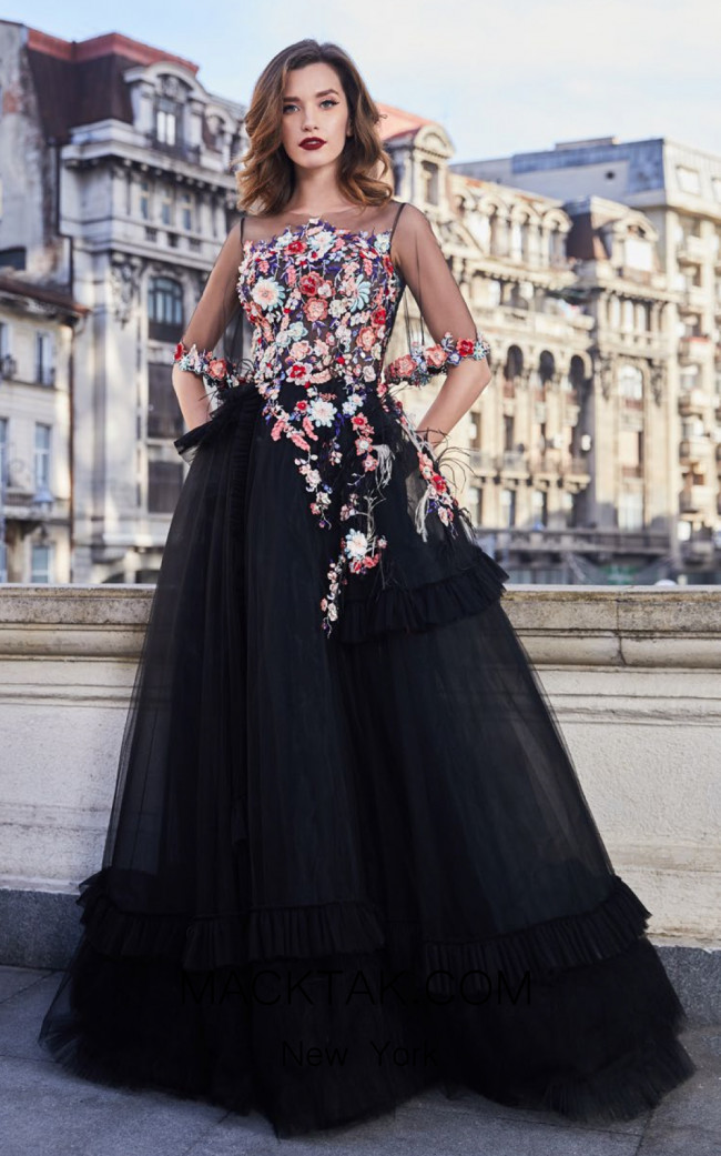 Cristallini SKA954 Front Evening Dress