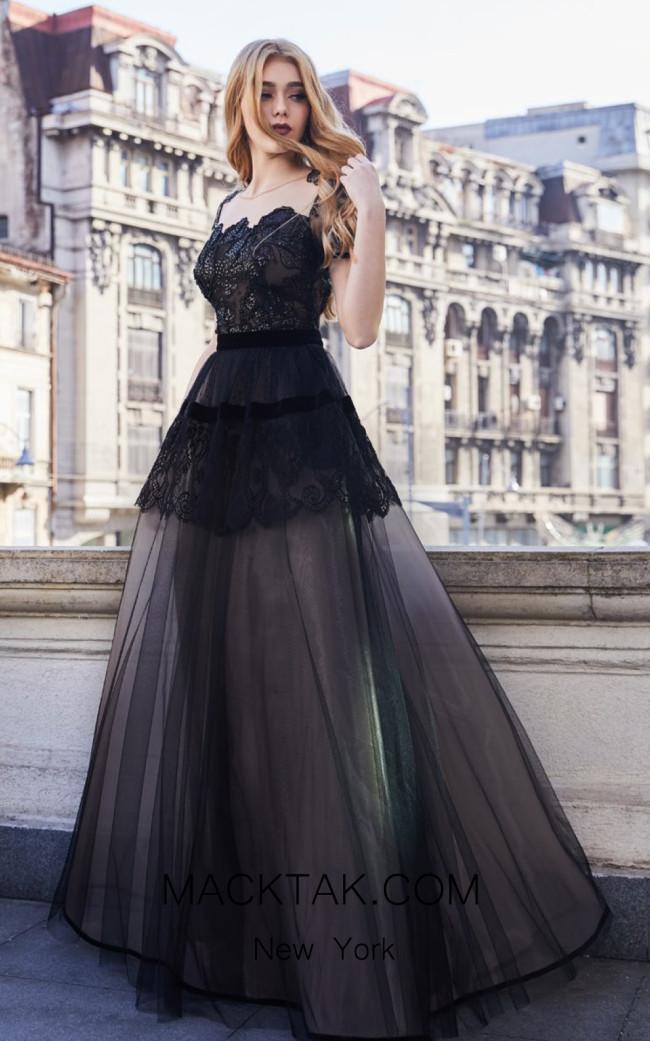 Cristallini SKA970 Front Evening Dress