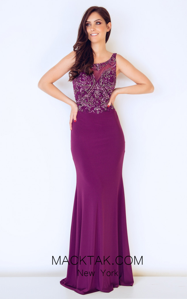 Dynasty 1013208 Front Plum Dress