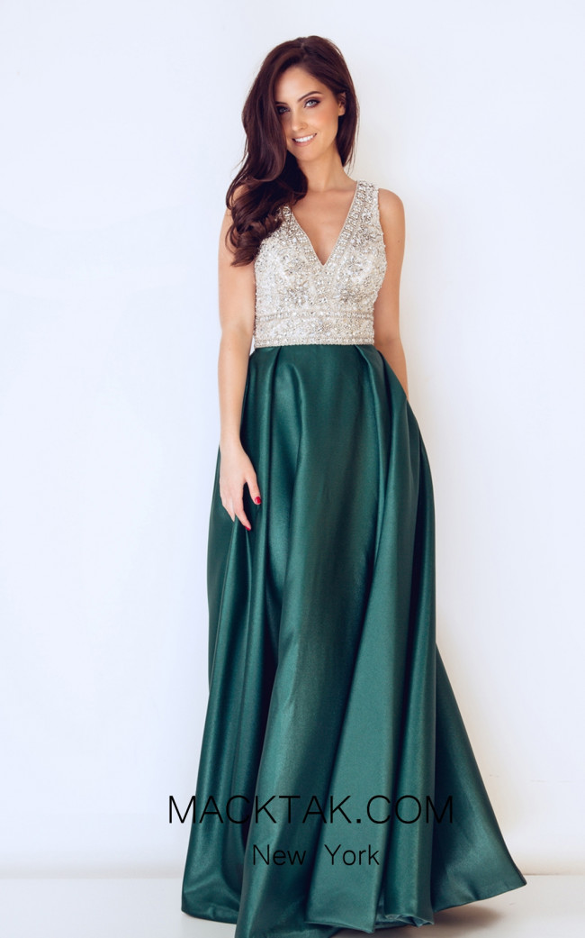 Dynasty 1013223 Front  Dark Green Dress