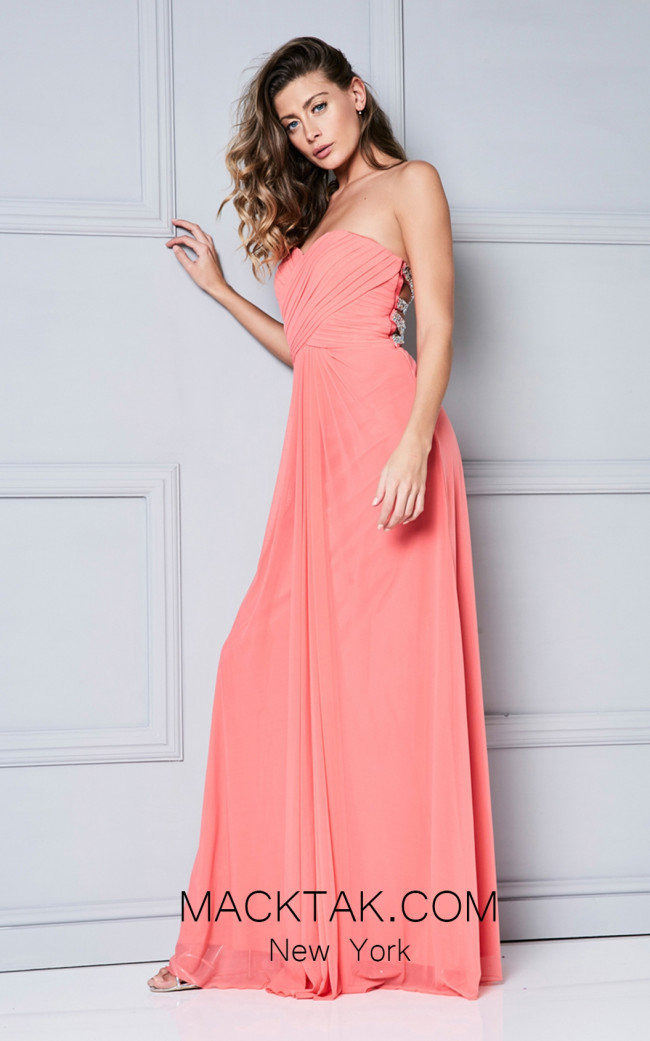 Dynasty 1022427 Front Coral Dress