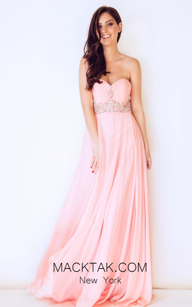 Dynasty 1022431 Front Peach Dress