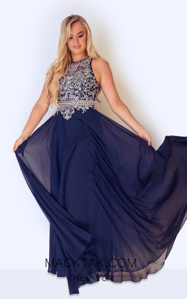 Dynasty 1022801 Front Navy Dress