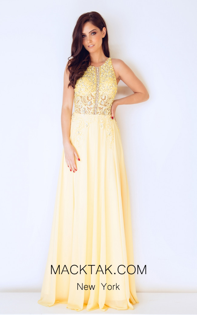 Dynasty 1012656 Front Mellow Yellow Dress