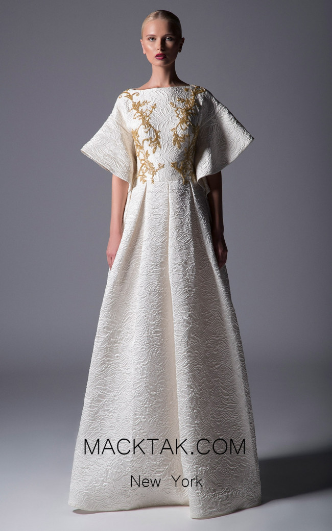 Edsward Arsouni La Gioia White Front Dress
