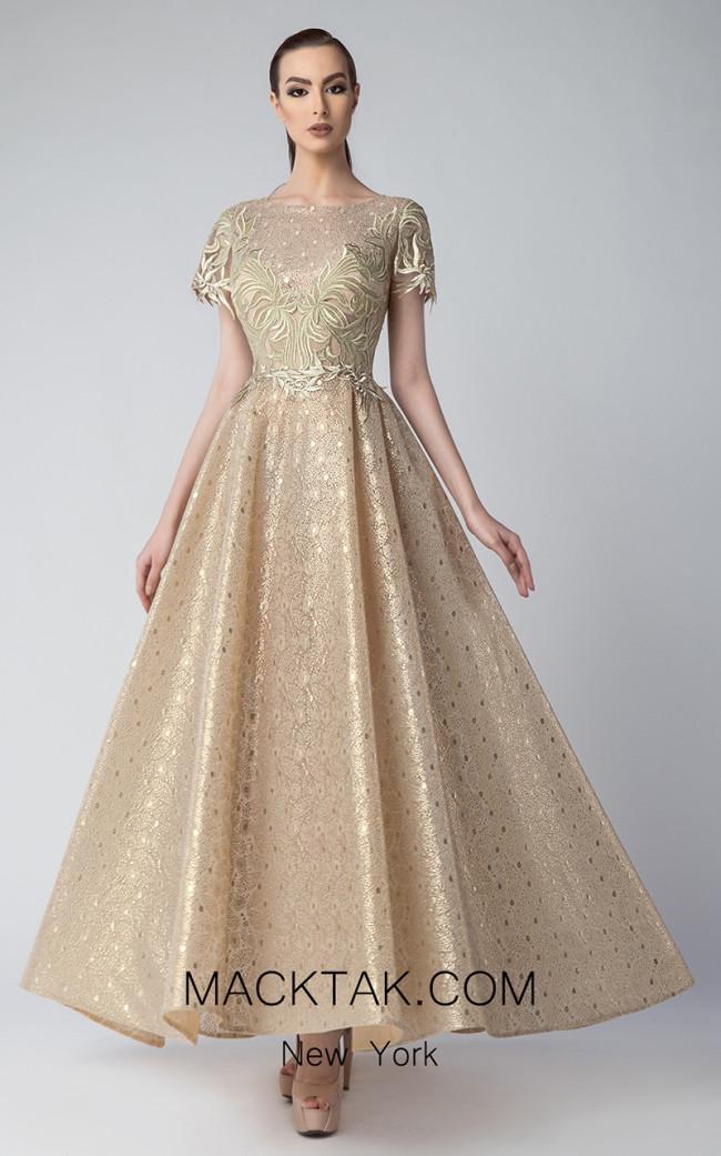 Edward Arsouni FW0225 Gold Front Dress