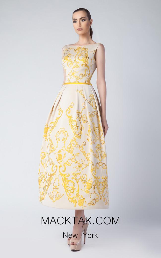 Edward Arsouni FW0232 Gold Front Dress