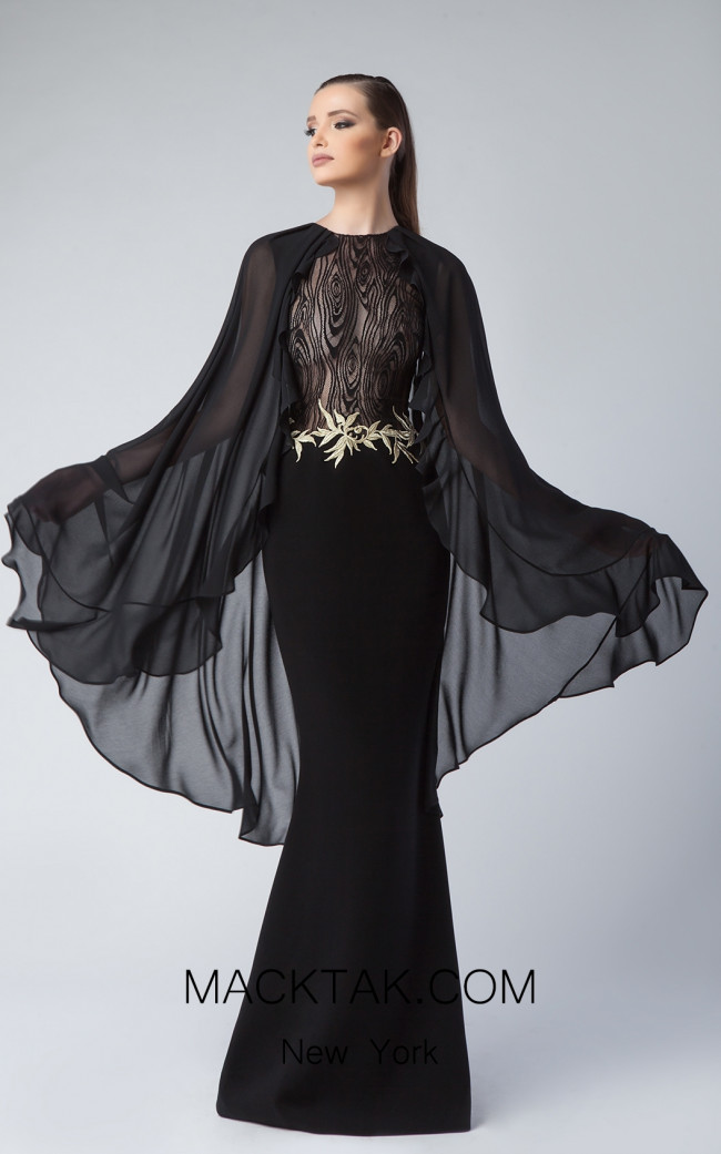 Edward Arsouni FW0235 Black Front Dress