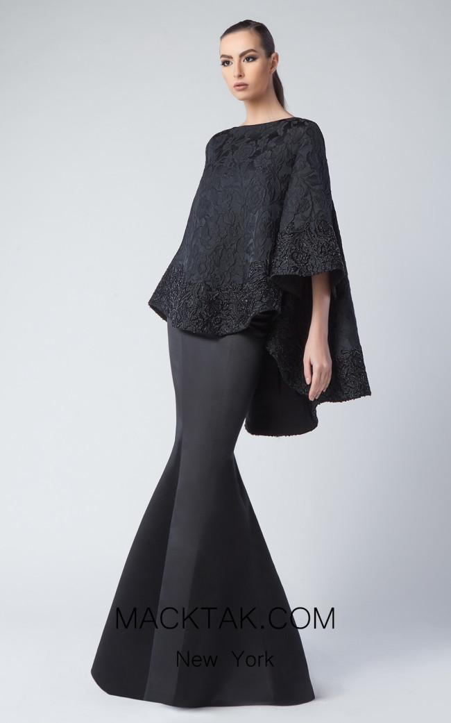 Edward Arsouni FW0236 Black Front Dress