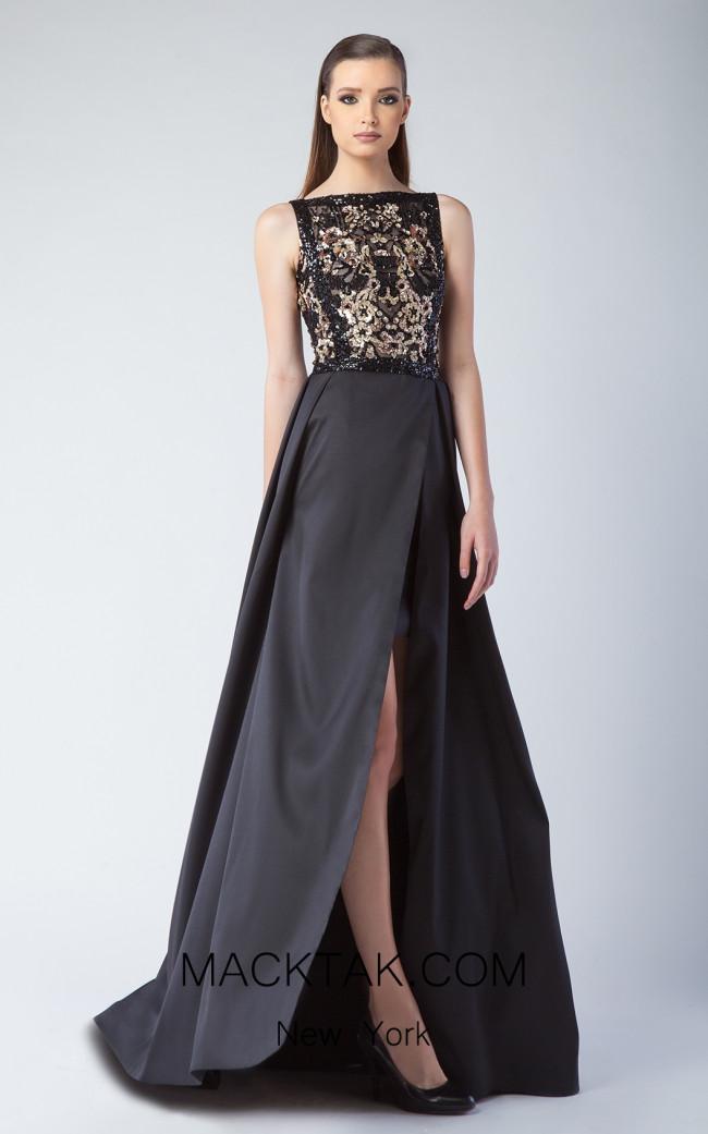 Edward Arsouni FW0237 Black Front Dress