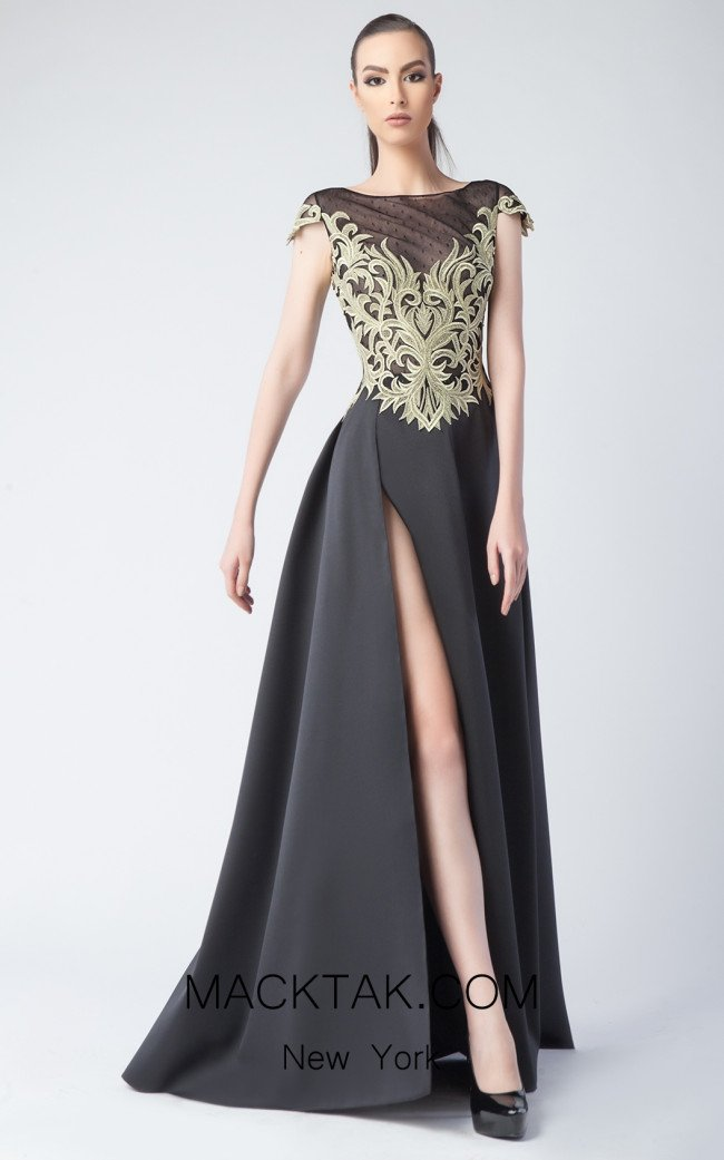 Edward Arsouni FW0238 Black Front Dress