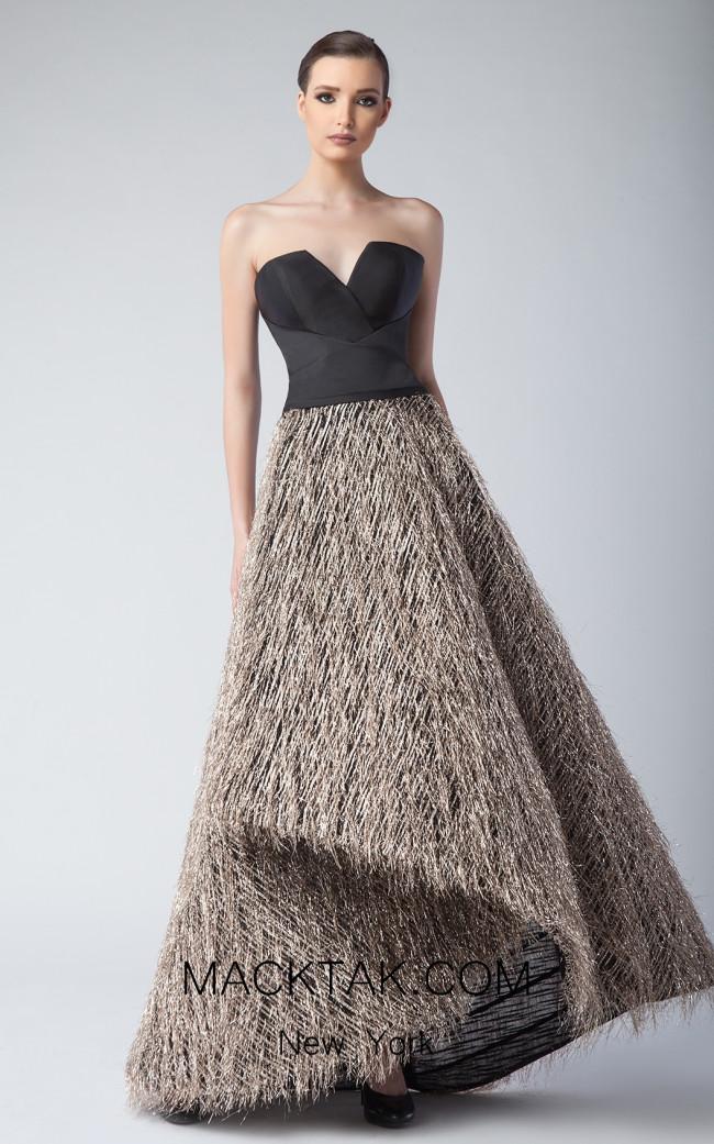 Edward Arsouni FW0243 Black Front Dress