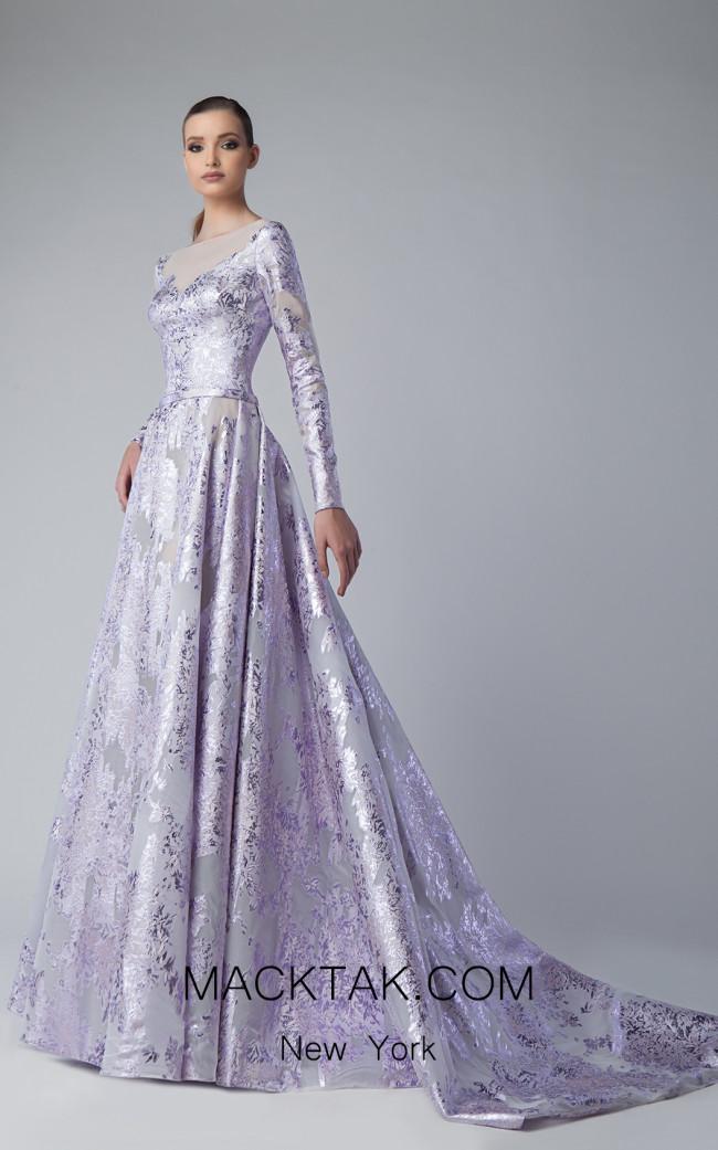 Edward Arsouni FW0254 Mauve Front Dress