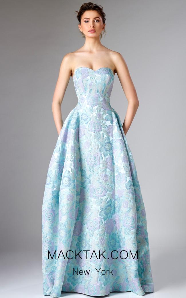 Edward Arsouni FW0304 Light Green Front Couture Dress
