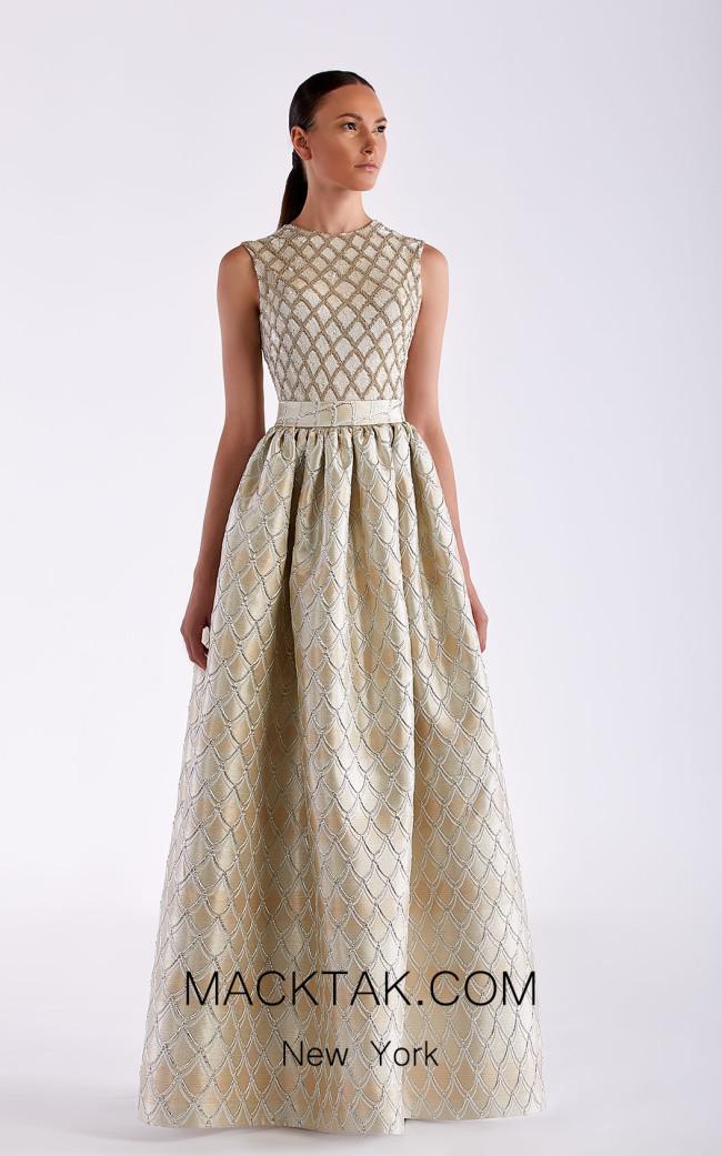 Edward Arsouni SS0461 Champagne Front Dress